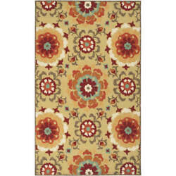 Surya SOM7704-576 Storm 5'x8' Polypro. Handhooked Floral Outdoor Rug