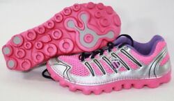 NEW Girls Kids Youth K SWISS Vertical Tubes Cali Mari Pink Silver Sneakers Shoes $39.99