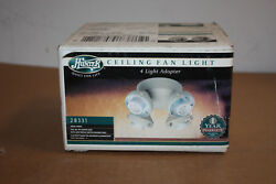 Hunter 4 Light Adapter Ceiling Fan Light with Fossil Finish 28331 $39.99