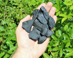 Lot of 10 Pieces Natural Rough Shungite (Raw Healing Stone Russia)