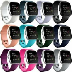 Replacement Silicone Rubber Band Strap Wristband For Fitbit Versa 1 2 Lite Watch $3.79