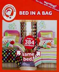 LITTLE MISS MATCHED ZANY TWIN COMFORTER SHEETS BEDSKIRT 8PC BEDDING SET NEW