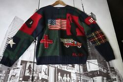 Polo Ralph Lauren Tribute TO 2001  9  11 NYFD Wool sweater L RARE VINTAGE