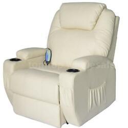 Leather Recliner Full Body Shiatsu Massage Lounge Chair ZERO GRAVITY Heat Remote