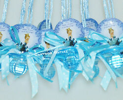 12 BABY SHOWER CROWN BOY PARTY FAVORS PRIZE GIFT PACIFIER NECKLACE BLUE REGALO $12.99