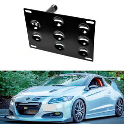 JDM Style Bumper Tow Hook License Plate Bracket Mount Holder For 11-16 Honda CRZ