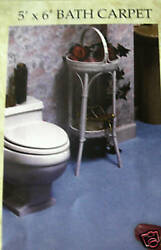 CUT TO FIT WALL TO WALL BATH CARPET RUGS NAVY SIZE = 5 X 6 PRICED TO SELL U $49.99