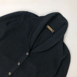 Loro Piana Women Navy BABY CASHMERE Knit Cardigan Sweater Pullover Size S IT42
