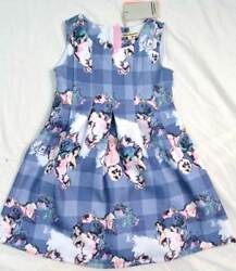 Dress Angel amp; Rocket designer girls party wedding blue scuba rrp £40 3 10 years