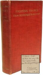 Edith WHARTON - Fighting France - FIRST EDITION - INSCRIBED TO HER CHAUFFEUR !
