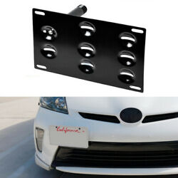 JDM Front Bumper Tow Hook License Plate Bracket For 2010-15 3rd Gen Toyota Prius