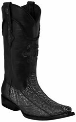 Mens Gray Real Ostrich Foot Exotic Skin Leather Cowboy Boots Western Snip Toe $179.99