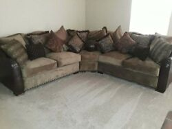 12 ft Brown Luxurious Sectional Couch by Ashley Furniture