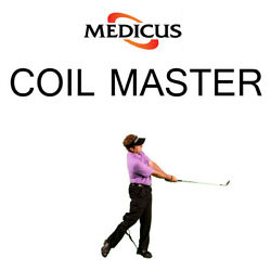 Medicus Coil Master Golf Swing Trainer Consistent Perfect Arc Power Accuracy $9.98