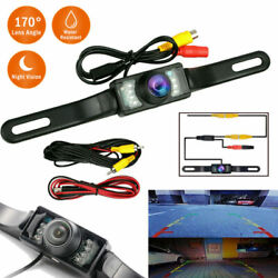Car Rear View Backup Camera Parking Reverse Back Up Camera Waterproof CMOS 7LED $13.94
