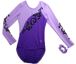 NEW! Adult Small Purple Euphoria Gymnastics Comp Leotard by Snowflake Designs