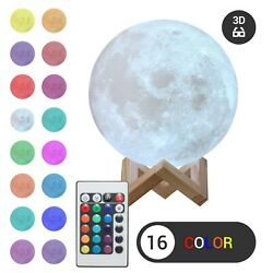 3D Moon Night Light Table Lamp USB Charging Remote Touch Control Home Decor Gift $14.99