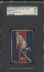 1921 Schapirpa Bros. Candy Babe Ruth They Passed Him Tough SGC 70