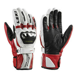 NEW HIGHEND $220 Leki World Cup Racing Titanium S Leather Ski Gloves Winter Mens $79.00