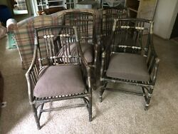 Vintage McGuire Rattanbamboo 4 Chairs