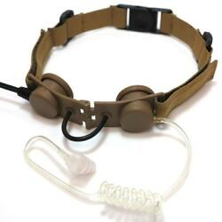 The Mercenary Company TP 120 Covert Military Throat Mic Headset Peltor Comtac $59.99