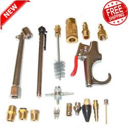18 Piece Air Compressor Accessory Kit Tool Blow Gun for Standard 38