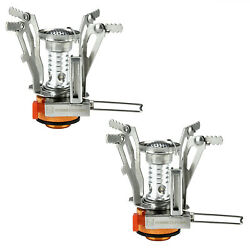 2 Portable Camping Stoves Backpacking Stove with Piezo Ignition Adjustable Valve $13.99