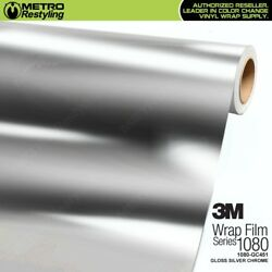 3M 1080 GC451 GLOSS SILVER CHROME 60in wide Vinyl Vehicle Car Wrap Decal Film