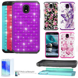 Phone Case For Samsung Galaxy J3 Orbit S367VL Shock Absorbing Crystal Cover $9.98