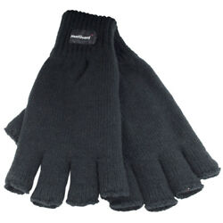 Mens Thermal Knitted Fingerless Winter Gloves Thinsulate Lined sizes M L L XL GBP 4.35