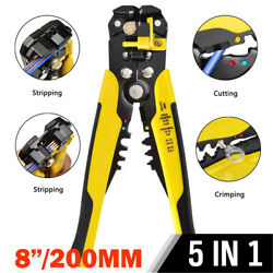 Multifunctional Cable Wire Stripper Cutter Crimper Automatic Terminal Plier $12.99