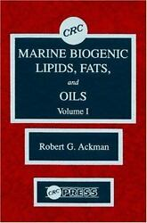 Marine Biogenic Lipids Fats and Oils Hardcover by Ackman Robert G. (EDT) ...