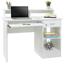 Computer Desk Home Laptop Table College Home Office Furniture Work Station White $145.99