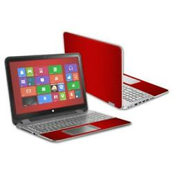 MightySkins 15.6 in. Skin Decal Wrap for HP Envy X360 2014 Laptop-Red Fiber