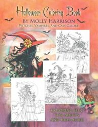 Halloween Adult Coloring Book Paperback by Harrison Molly ILT Brand New... $13.22