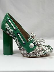 New Tory Burch Garden Party Fisher Pumps Heels Size 6.5