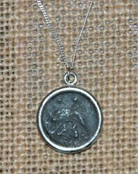 Constantine the Great She Wolf URBS Roma Ancient Coin 925 Silver Necklace