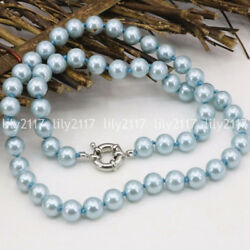 Fashion Natural 810mm Light blue Akoya Shell Pearl Necklace 161822253650