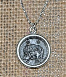 Romulus & Remus She Wolf URBS Roma Authentic Coin 925 Sterling Silver Necklace