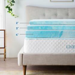 Linenspa 2 3 4 inch Soft Plush Swirl Gel Memory Foam Topper Full Queen King $79.99