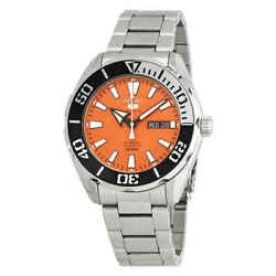 Seiko 5 Sports Automatic Orange Dial Stainless Steel Men#x27;s Watch SRPC55 $148.47
