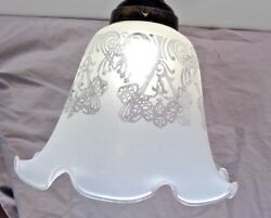 Etched Lamp Glass Shade Fixture Replacement Ceiling Fan Floor Light Globe $15.00