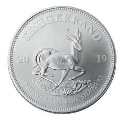 2019 South Africa 1 oz Silver Krugerrand 1 Rand Coin GEM BU SKU56598