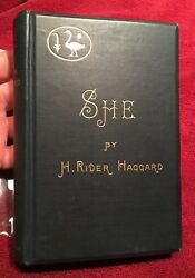 SHE - Rider Haggard. 1887 1st2nd UK. Signed & Dated1887+++Fine iCollector Copy