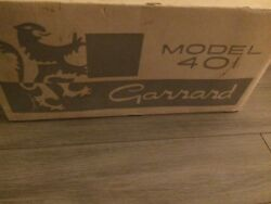 Garrard 401 Never Mounted Vintage Turntable over 50 years in original Box