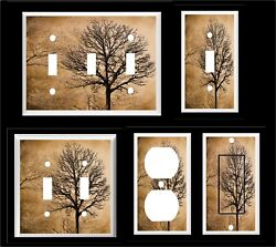 TREES FOREST BROWN TONES LIGHT SWITCH COVER PLATE       OR OUTLET $6.29