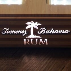 Tommy Bahama Bamboo Rum Dual 2 Bottle Bar Light Man Cave She Shed Collectible
