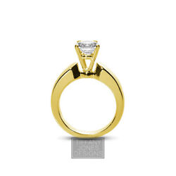 1.52ct J-SI2 Exc Round AGI Natural Diamond 18k Basket Engagement Ring 12.42 gram