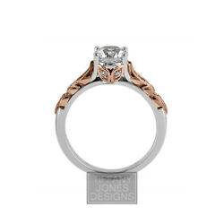 1.59ct tw F-SI3 Exc-Cut Round AGI Natural Diamonds 14k Vintage Engraved Ring 6gr