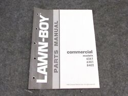 1982 LAWN BOY COMMERCIAL PUSH MOWER PARTS MANUAL MODELS 6261 6301 8402
